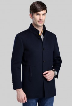 男士高品质时尚羊毛大衣-Y5513