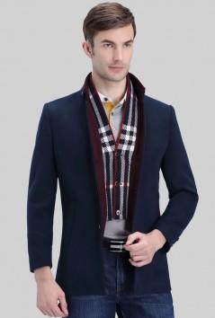 男装时尚修身羊毛大衣-YQ1521