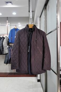 男士水貂保暖毛领羽绒服-M7388