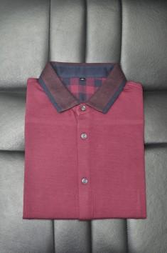 男士秋冬新款长袖酒红-C1223008
