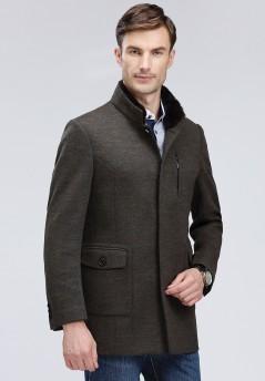 博尔顿秋冬新款休闲羊毛大衣Y1718