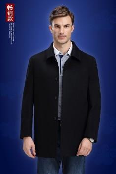 YHF148107 博尔顿工厂直销秋冬新款经典休闲中长羊毛大衣.