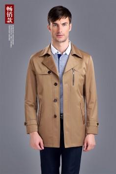 男士 伟德国际娱乐城经典修身高档风衣-F6210