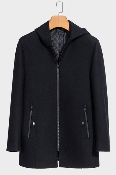 YZ8816    伟德国际1946伟德国际娱乐城新时尚连帽羊毛大衣