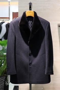 Y8872    博尔顿秋冬新款高端水貂羊毛大衣