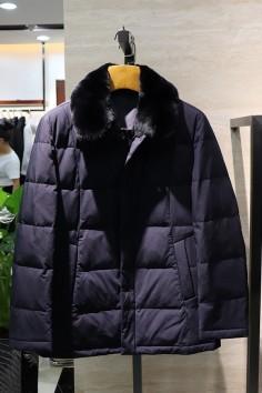 AY18916    博尔顿秋冬新款时尚獭兔领羽绒服