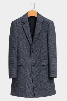 YM8836    博尔顿香港神算资料新款时尚大格羊毛大衣