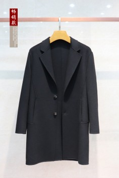 Y1837双面呢羊毛男士中长大衣冬季betvictor12伟德官网实力商家品质优选