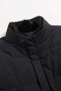 A5966 博尔顿水貂立领防风保暖修身羽绒服实力商家品质优选