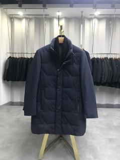 AS802 冬季防风保暖立领时尚围巾中长款羽绒服