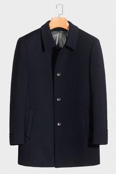 Y918011 羊毛翻领羽绒大衣工厂直销品质优选