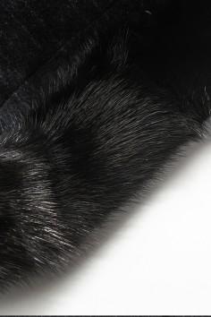 YA1822水貂立领羽绒活里活面经典保暖中长款