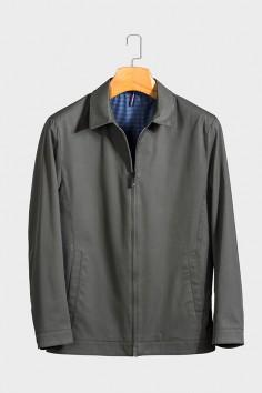 JQ1811   博尔顿春季休闲男士新款中年翻领夹克