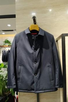 M9882 秋冬 2019 翻领 中长款  棉服