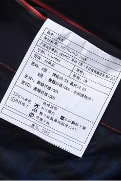 F7566 秋冬 2019 可拆卸帽子 风衣