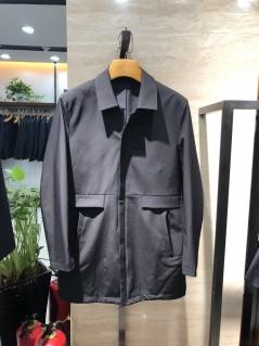 FA8967 伟德国际1946betvictor12伟德官网男士翻领时尚休闲中长款春装夹克