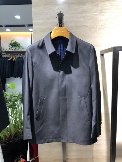 FA8911 博尔顿新款男士翻领时尚休闲中长款春装夹克