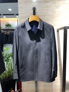 FA8911 伟德国际1946betvictor12伟德官网男士翻领时尚休闲中长款春装夹克