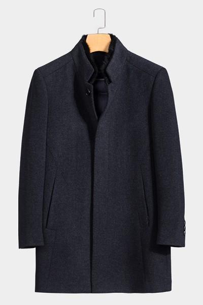 YM8829     博尔顿秋冬新款高端水貂羊毛大衣
