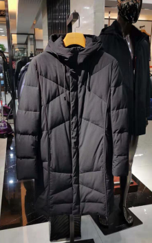 A9132 冬季保暖防风连帽羽绒服中长款实力商家优选品质