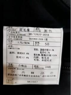 NK2887 秋冬 2019 立领 水貂 羽绒服