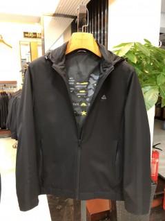 JZ8201 博尔顿男士时尚休闲可拆卸帽子新款中年春装夹克
