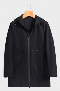 F6629909 博尔顿男士时尚休闲可拆卸帽子新款中年春装夹克