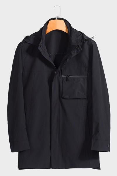 F6629921 博尔顿男士时尚休闲可拆卸帽子新款中年春装夹克