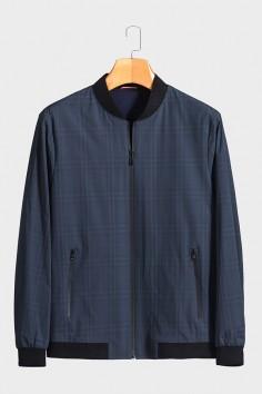 J2056  博尔顿棒球领男士新款中年休闲立领春装夹克