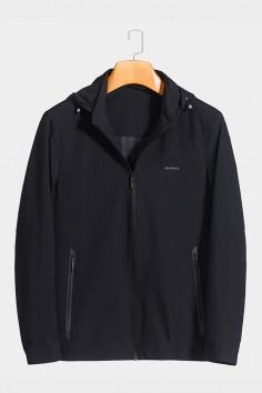 J2012 博尔顿男士时尚休闲可拆卸帽子新款中年春装夹克
