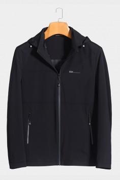 J2016 博尔顿男士时尚休闲可拆卸帽子新款中年春装夹克