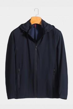 J2818 博尔顿男士时尚休闲可拆卸帽子新款中年春装夹克