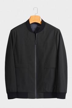 J81099 博尔顿棒球领男士新款中年休闲立领春装夹克