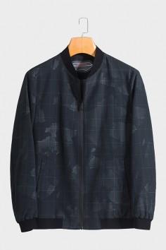 JA102 博尔顿棒球领男士新款中年休闲立领春装夹克