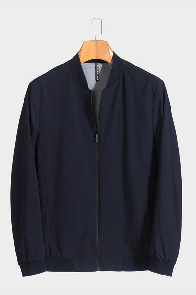 J51886 伟德国际1946棒球领男士betvictor12伟德官网中年休闲立领春装夹克