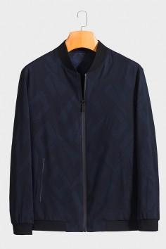 JZ6088 博尔顿棒球领男士新款中年休闲立领秋装夹克