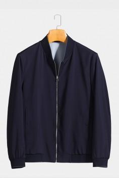 J81117 博尔顿棒球领男士新款中年休闲立领春装夹克