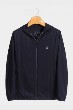 J8299  伟德国际1946时尚针织休闲男士betvictor12伟德官网中年帽款春装夹克