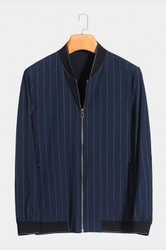 J8298  博尔顿棒球领男士新款中年休闲立领春装夹克