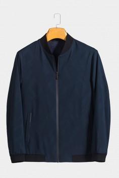 J6088 博尔顿棒球领男士新款中年休闲立领秋装夹克