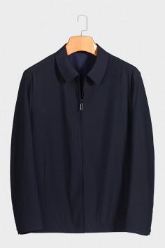 JZ9822  博尔顿春季休闲男士新款中年翻领夹克