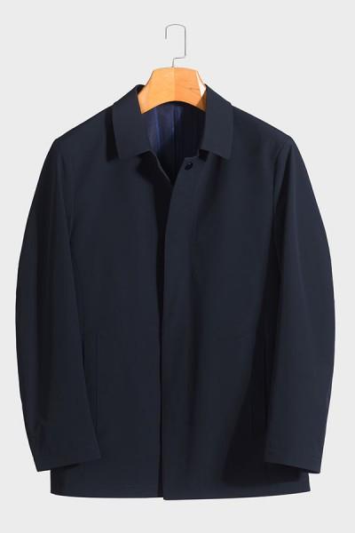 BY5802 伟德国际1946betvictor12伟德官网男士翻领时尚休闲中长款春装夹克