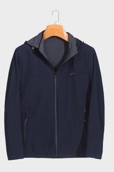 J2017  厂家段号 不在生产 博尔顿男士时尚休闲可拆卸帽子新款中年春装夹克