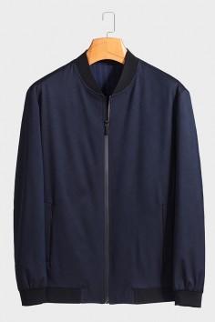 JG2002  博尔顿棒球领男士新款中年休闲立领春装夹克
