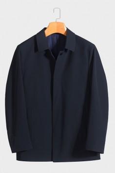 BY5802 博尔顿新款男士翻领时尚休闲中长款春装夹克