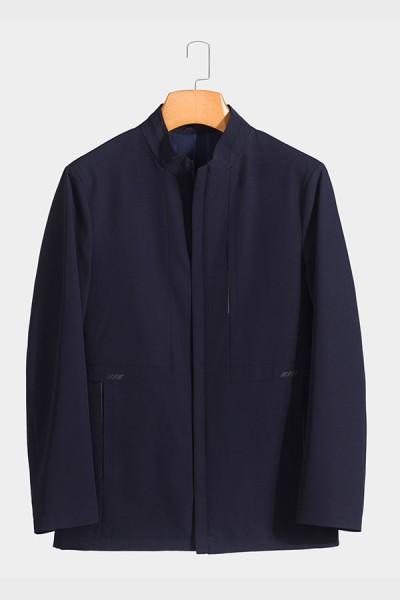 BY5801 博尔顿新款男士时尚休闲中长款春装夹克