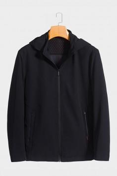 J0099 博尔顿男士时尚休闲可拆卸帽子新款中年春装夹克