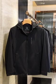 J20155秋装新款弹力面料帽款夹克