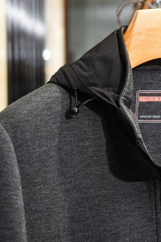 J9967秋装新款弹力棉帽子可拆卸夹克