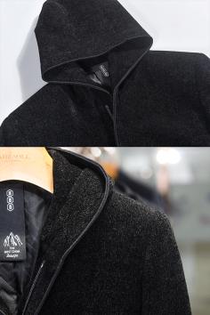 Y82028秋装新款雪尼尔帽款茄克